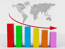 Business Graph. 3d render of Business Graph Royalty Free Stock Photos