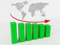 Business Graph. 3d render of Business Graph Royalty Free Stock Photography