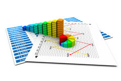 Business Graph. 3d render of Business Graph Stock Photos