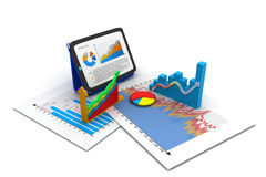Business graph. 3d render of Business graph Stock Photo
