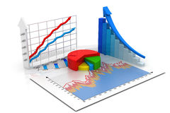 Business graph. 3d render of Business graph Stock Photography