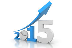 Business graph of  2015. 3d render Business graph of  2015 Stock Image