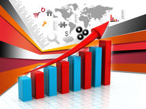 Business Graph. 3d render of Business Graph Stock Image
