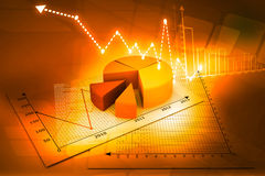 Business Graph. 3d render of Business Graph Royalty Free Stock Image