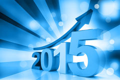 Business graph of 2015. 3d render of business graph of 2015 royalty free illustration