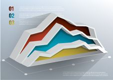 Business graph. 3d Business graph on white background. Vector illustration. . Can be used for infographics Stock Photo