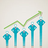 Business graph design with businessmen. Stock Royalty Free Stock Photography