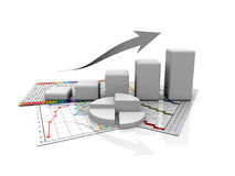 Business graph, diagram, chart graphic Stock Photography