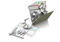 Business graph, diagram, chart graphic Royalty Free Stock Image