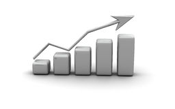 Business graph, diagram, chart graphic Stock Images