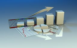 Business graph, diagram, chart graphic Stock Image