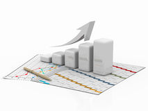 Business graph, diagram, chart, graphic Stock Image