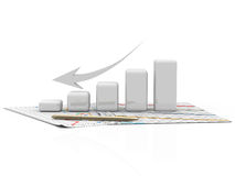 Business graph, diagram, chart, graphic. Business finanse graphics, charts, diagram bar, graphic Stock Photography