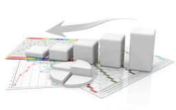 Business graph, diagram, chart, graphic Royalty Free Stock Image