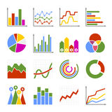 Business Graph and Diagram Icons Set. Vector Royalty Free Stock Image