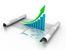 Business graph stock illustration