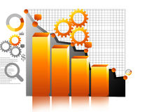 Business Graph. Digital illustration of Business Graph Royalty Free Stock Photos