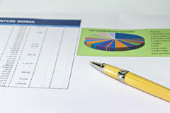 Business graph document Stock Images