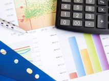 Business Graph Documents Royalty Free Stock Image