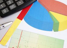 Business Graph Documents Stock Photo