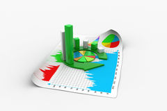 Business graph and documents Royalty Free Stock Photo