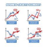 Business graph elements for infographics Royalty Free Stock Image
