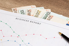 Business graph with euro Stock Image