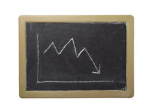 Business graph finance chalkboard Stock Photo