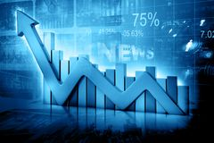 Business graph. Financial concept.  3d illustration Stock Images