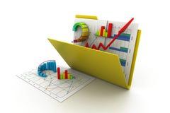 Business graph in folder stock illustration