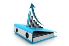 Business graph on folder document Stock Images