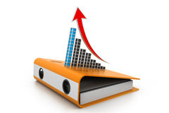 Business graph on folder document Royalty Free Stock Image