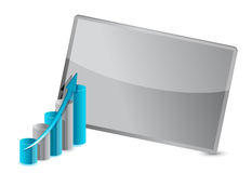 Business graph frame illustration design Stock Photo