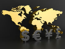 Business graph. With Global Currencies Royalty Free Stock Images