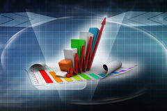 Business graph going up Stock Image