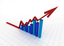 Business graph with grid Royalty Free Stock Image
