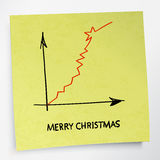 Business graph grow up. Merry Christmas concept. Vector Royalty Free Stock Images