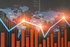 Business graph growth Stock Image