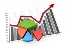 Business graph growth Royalty Free Stock Image
