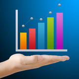 Business graph on hand Royalty Free Stock Images