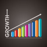 Business graph icon Stock Image
