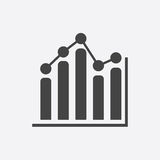 Business graph icon. Chart flat vector illustration on white background Stock Photography