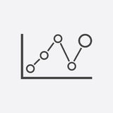 Business graph icon. Chart flat vector illustration on white background Royalty Free Stock Image