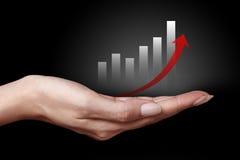 Business graph icon Stock Photos