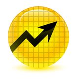 Business graph icon glassy yellow round button royalty free illustration