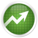 Business graph icon premium soft green round button Stock Images