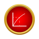 Business graph icon in simple style Royalty Free Stock Photography