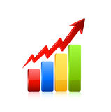 Business graph icon. Stock Image