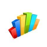 Business graph icon. Vector Stock Photos