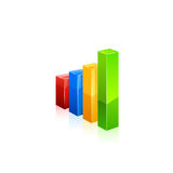 Business graph icon. Vector Royalty Free Stock Photography